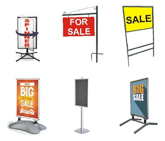 Sign Frames and Spinners