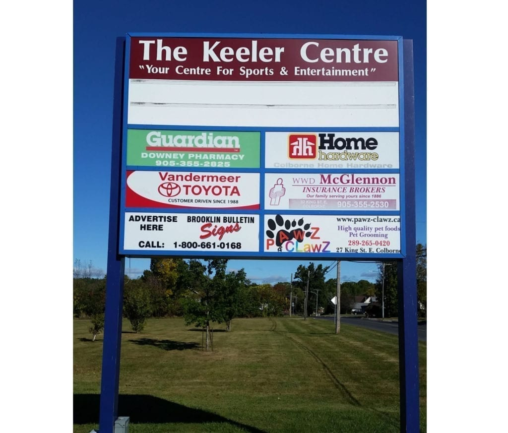 Arena Advertising Sign The Keeler Centre