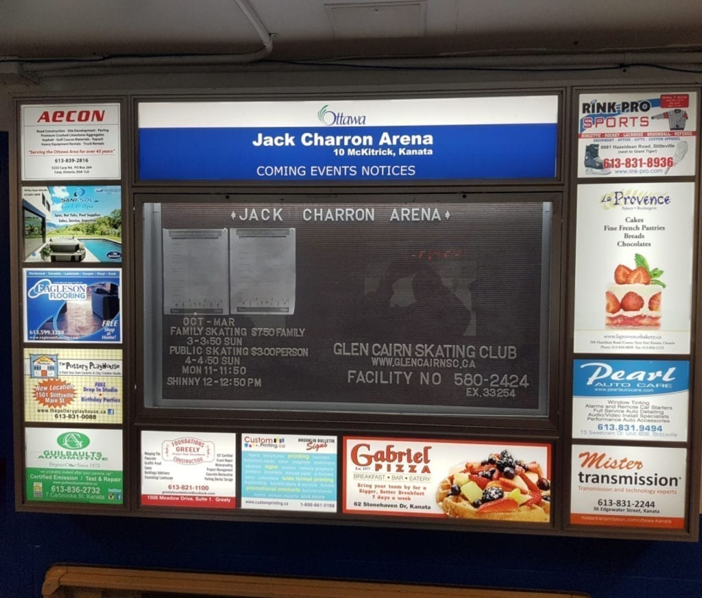 Arena Advertising Sign Jack Charron
